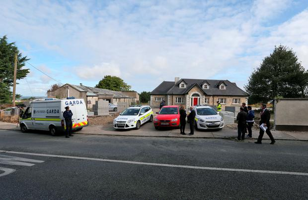 The scene of a fatal shooting in Saggart, Co. Dublin pictured this morning. A man was shot dead in his home at around 11pm last night . Picture Colin Keegan, Collins Dublin.