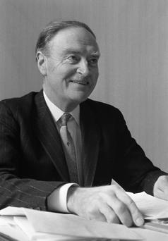 INFLUENCE: Enda Kenny is a 'political son' of Liam Cosgrave. Photo credit: Matt Walsh