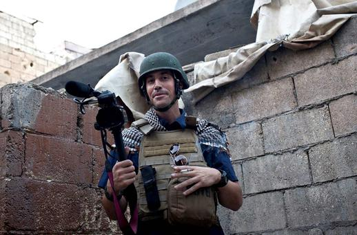 American journalist James Foley is pictured while covering the civil war in Aleppo, Syria. Photo: AP
