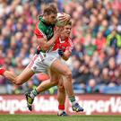 One thing Mayo do need on Sunday is a big performance from Aidan O'Shea such as the one he gave against Cork in the All-Ireland quarter-final. Picture credit: Brendan Moran / SPORTSFILE