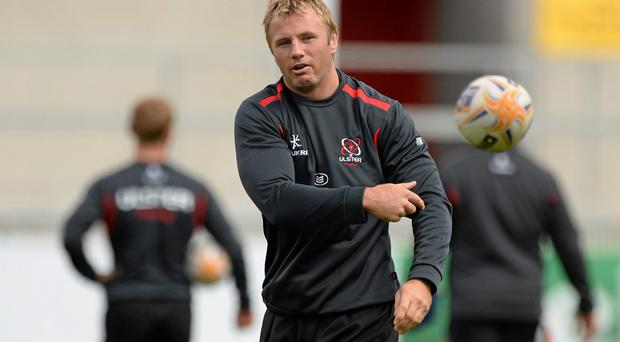 Ulster's veteran back-row, Roger Wilson, in action during squad training ahead of their pre-season game against Exeter Chiefs this weekend. Picture credit: Oliver McVeigh / SPORTSFILE
