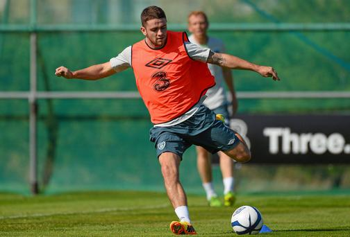 Republic of Ireland's Robbie Brady in action during squad training. Picture credit: David Maher / SPORTSFILE
