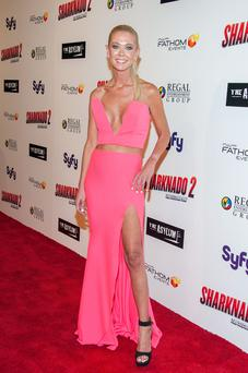 Actress Tara Reid arrives at the Premiere Of The Asylum & Fathom Events'