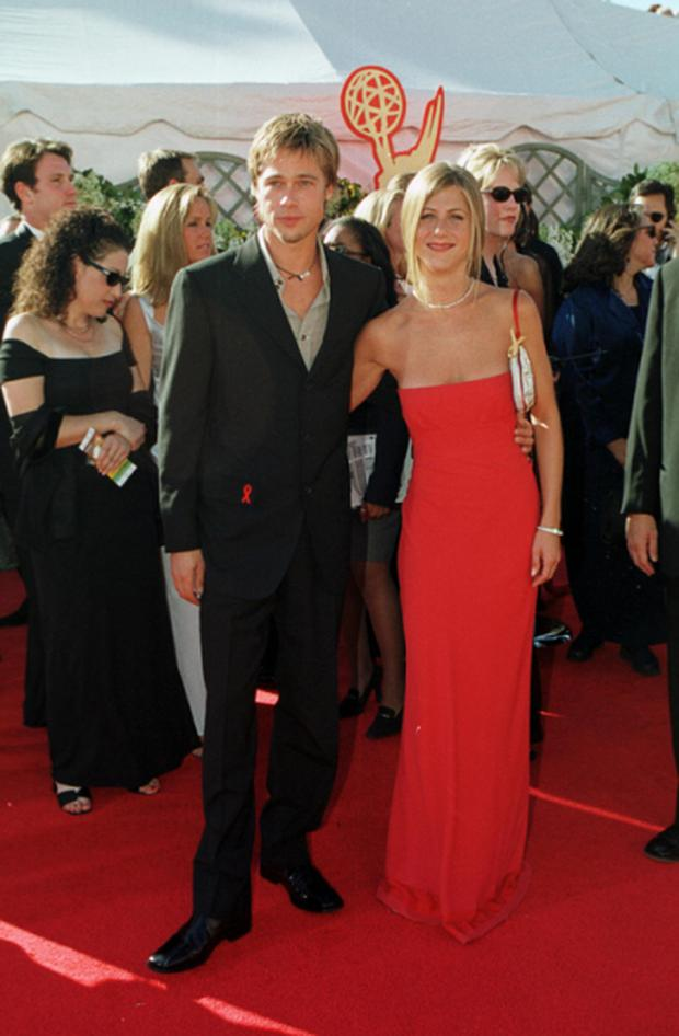 Jennifer Aniston again with Brad Pitt at the 2009 Emmys