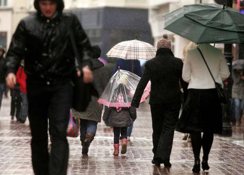 Met Eireann is predicting rain on Sunday.