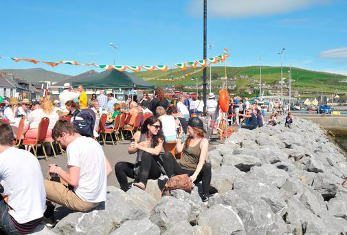 Large crowds gathered in glorious sunshine at the marina in Dingle for the Feile na Beile earlier this summer; we're set for a final blast of summer this week