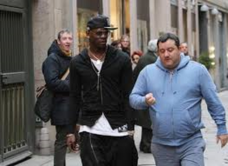 Balotelli with Mino Raiola