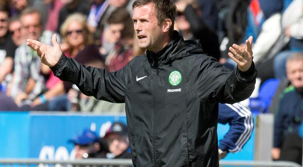 Celtic manager Ronny Deila during the Scottish Premiership match at Tulloch Caledonian Stadium
