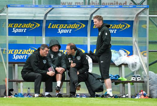 Martin O'Neill claims he has more help now, with Steve Walford and Steve Guppy happy to watch games for him. Picture credit: David Maher / SPORTSFILE