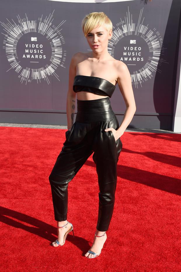 Recording artist Miley Cyrus attends the 2014 MTV Video Music Awards