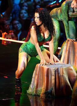 Recording artist Nicki Minaj performs onstage during the 2014 MTV Video Music Awards