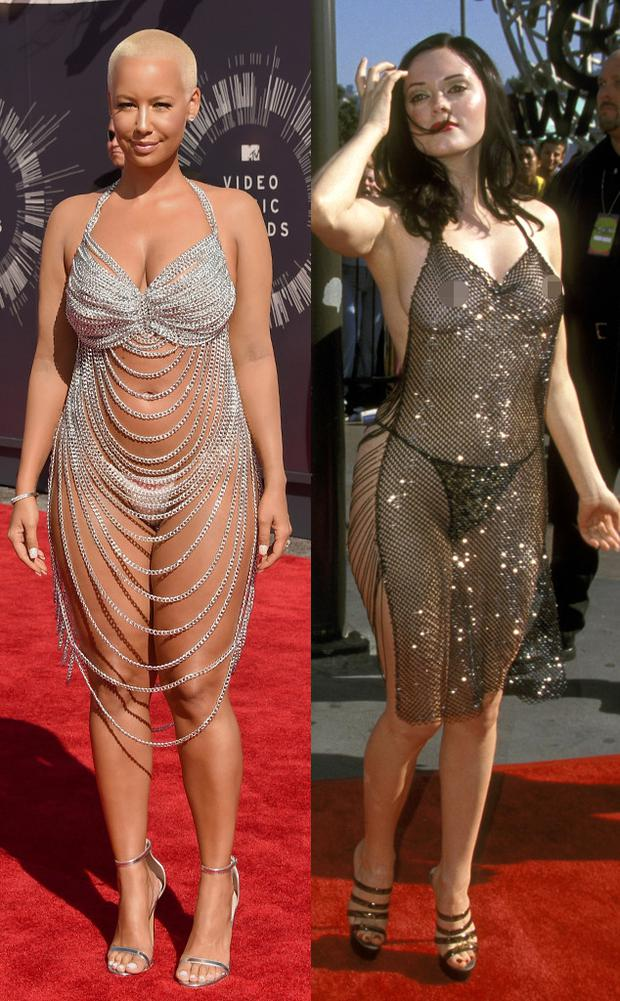 from marilyn monroe to amber rose why do celebrities love the naked dress so much