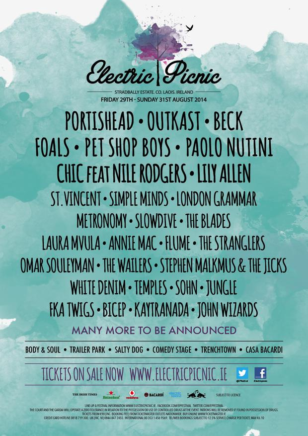 Electric Picnic 2014: stage times - Independent ie
