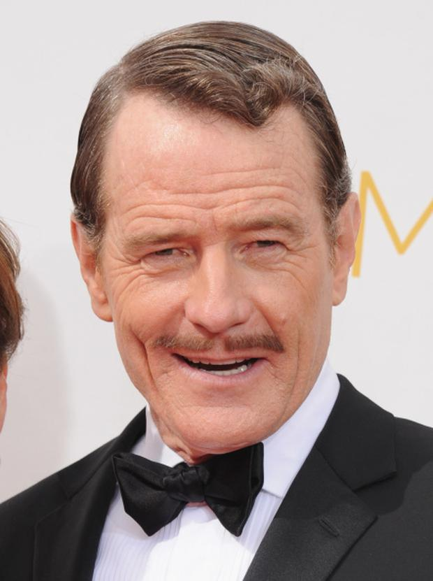 LOS ANGELES, CA - AUGUST 25: Actor Bryan Cranston arrives at the 66th Annual Primetime Emmy Awards at Nokia Theatre L.A. Live on August 25, 2014 in Los Angeles, California. (Photo by Jon Kopaloff/FilmMagic)