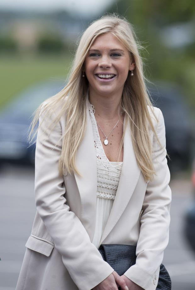 Chelsy Davy attends Prince Harry's Pilot Course Graduation at the Army Aviation Centre on May 7, 2010