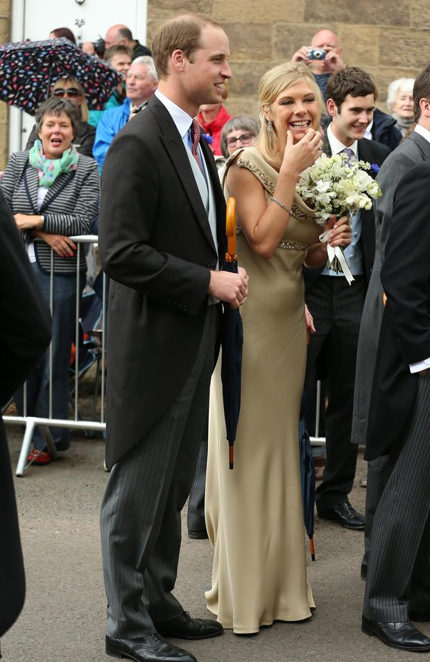 Chelsy with Prince William at a friend's wedding
