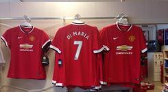 Angel Di Maria will wear the number seven jersey at Manchester United