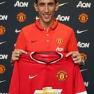 Angel Di Maria has signed a five-year contract with Manchester United
