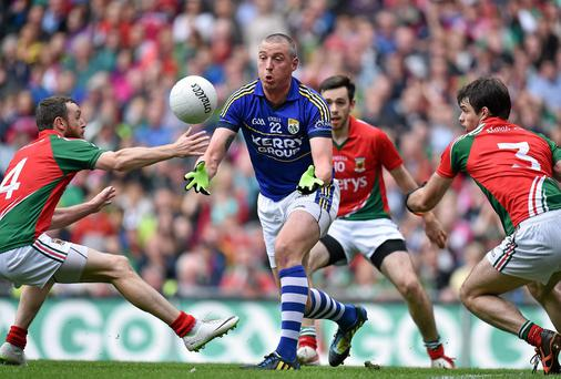 Kieran Donaghy caused havoc in the Mayo defence