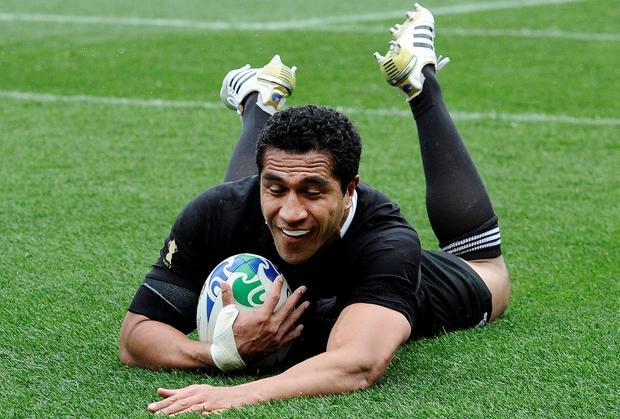 Mils Muliaina in action for the All Blacks
