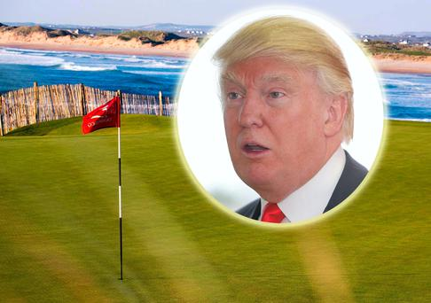 Donald Trump (inset) paid €8.7m for Doonbeg