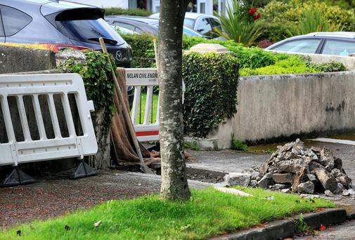 Water meters being fitted at Ardeevin Court in Lucan. Picture:Arthur Carron