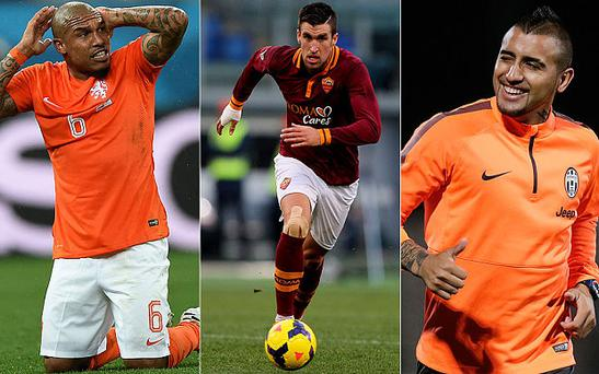 Catching the eye: United could move for Nigel Jong, Kevin Strootman or Arturo Vidal before the transfer window closes
