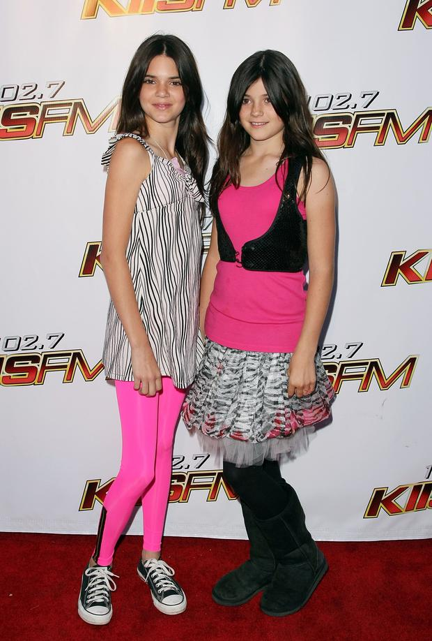 TV personalities Kendall Jenner and Kylie Jenner arrive at the KIIS-FM's 2008 Wango Tango concert