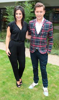 Lucy Kennedy and Brian Dowling at TV3s Autumn Schedule 2014 launch