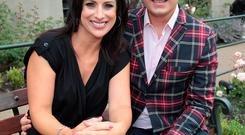 Lucy Kennedy and Brian Dowling at TV3s Autumn Schedule 2014 launch at The Mansion House Dublin. Pictures:Brian McEvoy No Repro fee for one use