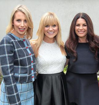 Xpose Presenters Aisling O'Loughlin ,Karen Koster and Lisa Cannon at TV3's Autumn Schedule 2014 launch