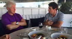 Rory posted a picture of their meeting on social media and said it was always 'an education spending time in his company'. (Photo: Rory McIlroy/Twitter)