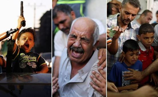 Scenes from the Israel - Gaza conflict which has ended with both sides claiming victory
