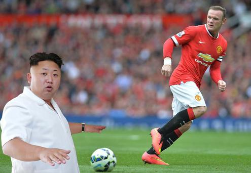 Kim Jong-un is a big Manchester United fan