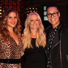 LONDON, ENGLAND - AUGUST 27: (L-R) Amanda Byram, Denise Van Outen and Gok Wan attend an after party celebrating the press night performance of