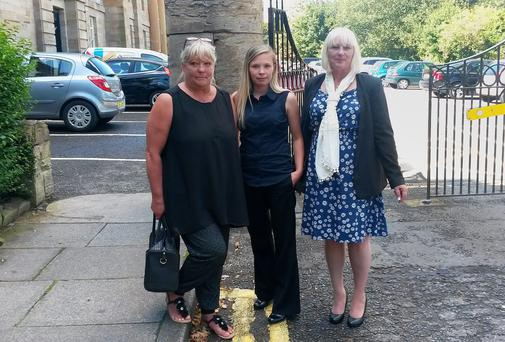 (Left to right) Jackie Herbison, Claire Webb, Sandra Webb, paternal grandmother, mother and maternal grandmother of nine year old Abbie Keers Credit:Tom Wilkinson/PA Wire