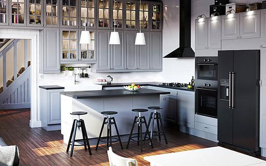 Around three quarters of IKEA's catalogue images are now CGI, such as this 'kitchen'