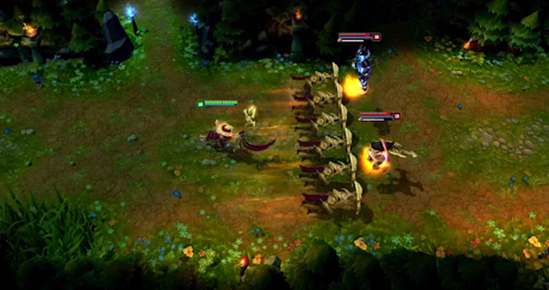 Azir's Emperor's Divide sends a phalanx of shielded warriors rushing forward