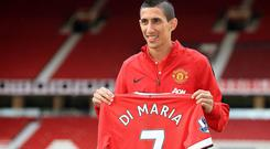 The £59.7 million Manchester United paid for Angel Di Maria is more than the transfer market money spent by Burnley in their entire 132-year history. GEOFF CADDICK/AFP/Getty Images
