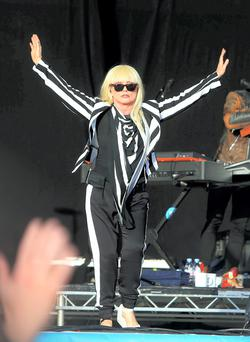 Debbie Harry, Blondie, lead singer performs on the main stage at the first day of Electric Picnic. Picture credit; Damien Eagers