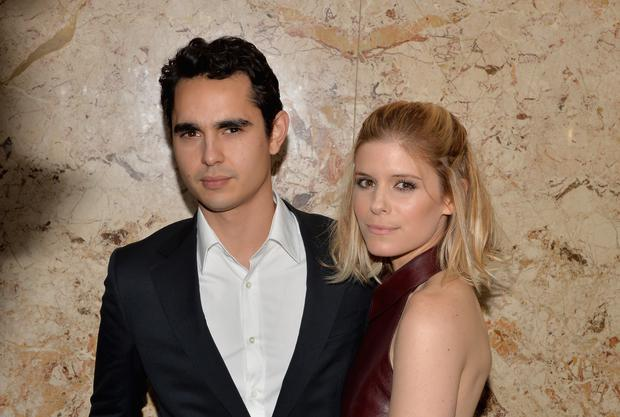 NEW YORK, NY - JUNE 04: Actress Kate Mara (R) and actor Max Minghella attend the Gucci beauty launch event hosted by Frida Giannini on June 4, 2014 in New York City. (Photo by Andrew H. Walker/Getty Images for Gucci)