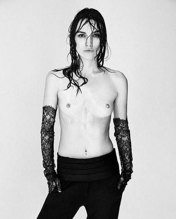 Keira Knightley photographed by Patrick Demarchelier for Interview Magazine's September issue, themed The Photographer's issue