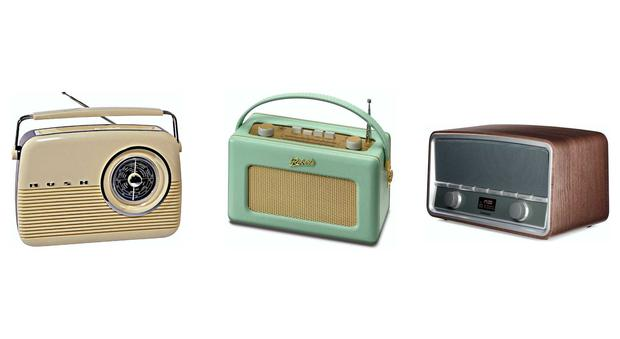 From left: Bush Retro FM, Roberts R250, Goodmans Heritage