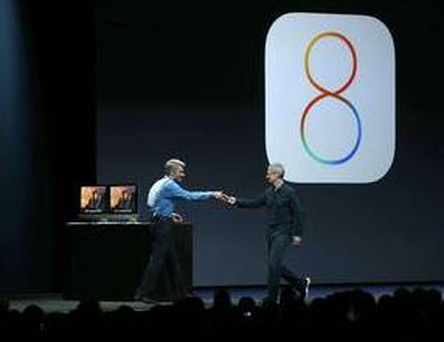 Apple previewed the new iOS 8 operating system at an event in June, and is expected to unveil its new phones on September 9. Source: Getty Images