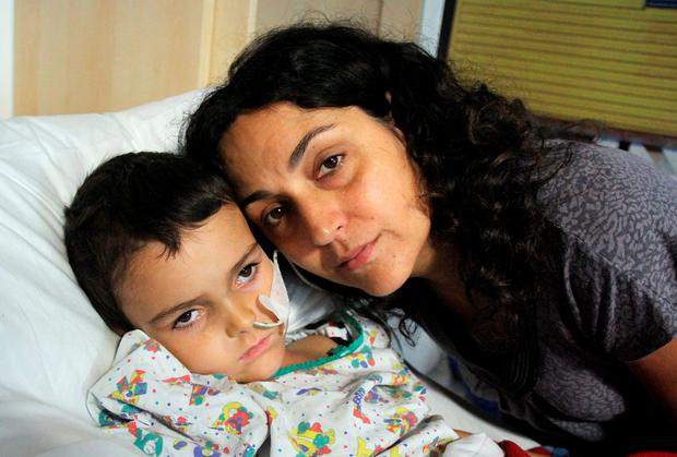 A picture posted on Facebook showed Ashya with his mother Naghemeh King