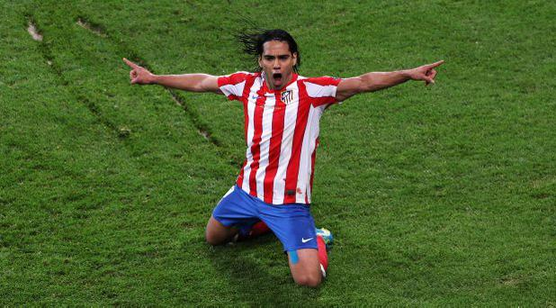 Radamel Falcao in action for former club Atletico Madrid