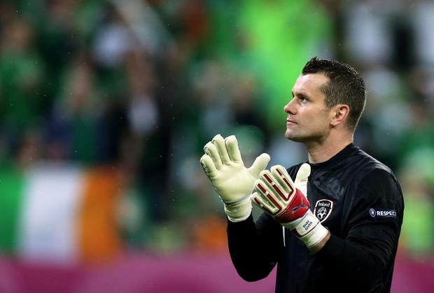 Shay Given looks on during the UEFA EURO 2012 group C match between Spain and Ireland. Photo credit: Alex Grimm/Getty Images