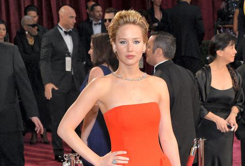 Jennifer Lawrence at this year's Academy Awards