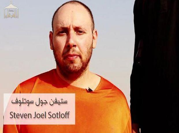 Steve Sotloff, before the purported beheading, in the latest video released by IS