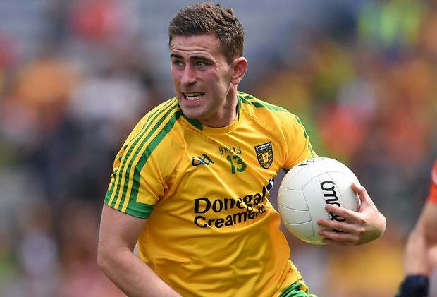 Donegal's Paddy McBrearty played senior inter-county football while still eligible for the minor grade in 2011. Photo: Stephen McCarthy / SPORTSFILE